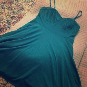 Dresses & Skirts - Used teal dress, zipper back,empire waist